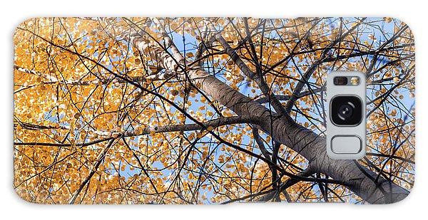 Orange Autumn Tree. Galaxy Case by Teemu Tretjakov