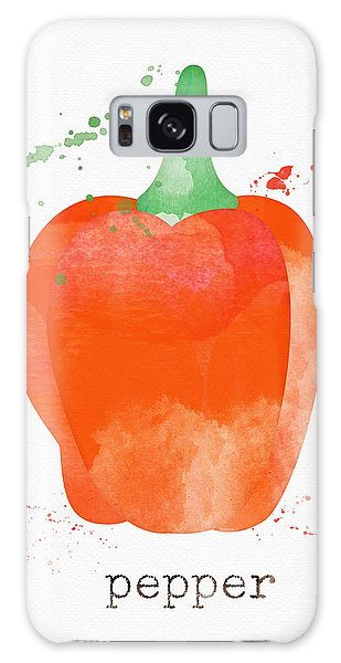 Rural Scenes Galaxy S8 Case - Orange Bell Pepper  by Linda Woods