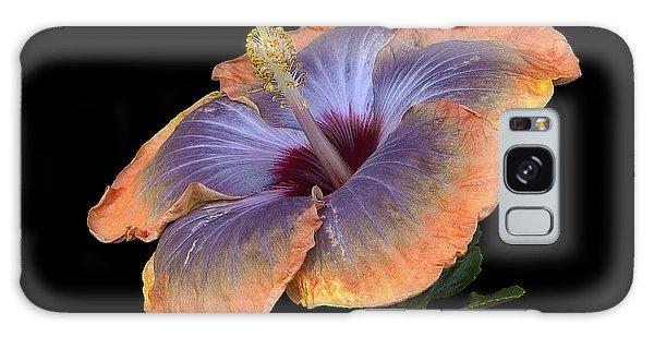 Orange-blue Hibiscus Galaxy Case