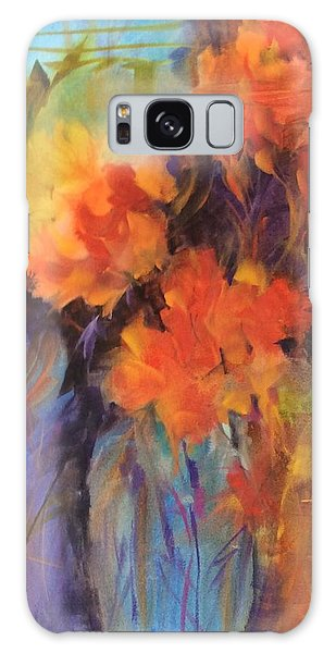 Orange Bouquet Galaxy Case
