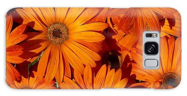 Orange Burst Galaxy Case