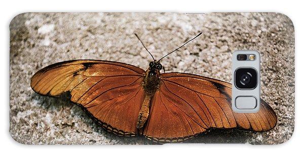 Orange Butterfly Galaxy Case