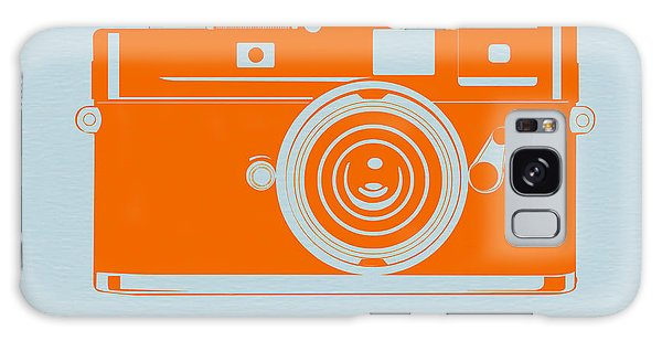 Vintage Camera Galaxy Case - Orange Camera by Naxart Studio