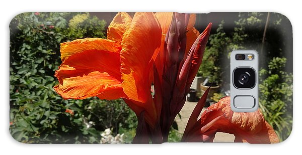 Galaxy Case featuring the photograph Orange Canna Lily by Rod Ismay