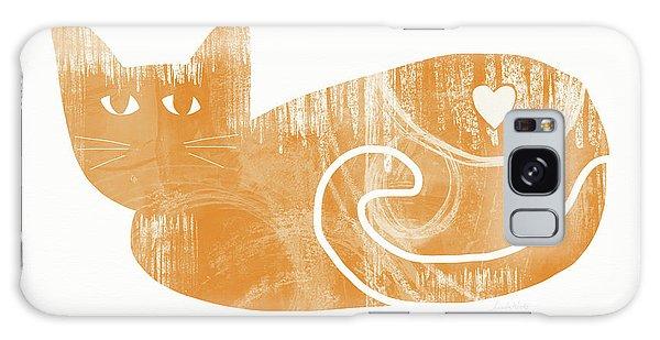Tabby Galaxy Case - Orange Cat- Art By Linda Woods by Linda Woods