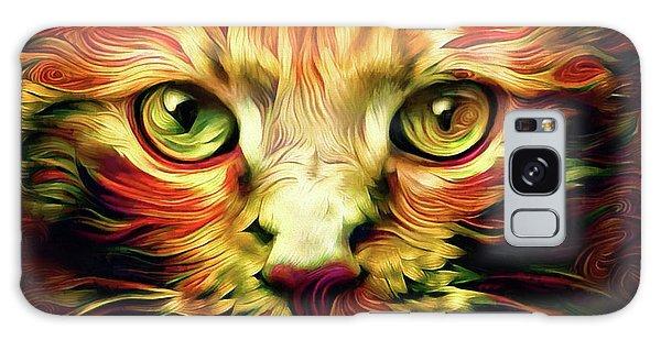 Orange Cat Art - Feed Me Galaxy Case