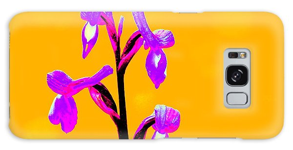 Orange Champagne Orchid Galaxy Case