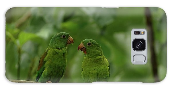 Orange-chinned Parakeets-  Galaxy Case