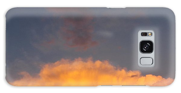 Orange Cloud With Grey Puffs Galaxy Case