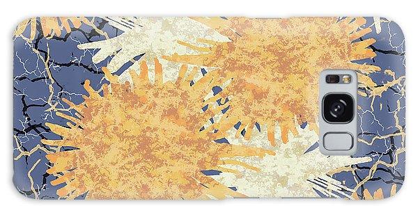 Orange Cobwebs Pattern Galaxy Case