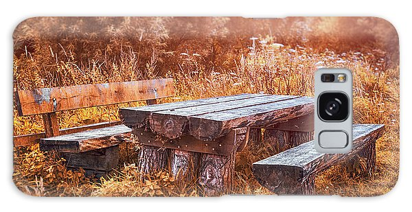 Picnic Table Galaxy Case - Orange Country by Wim Lanclus