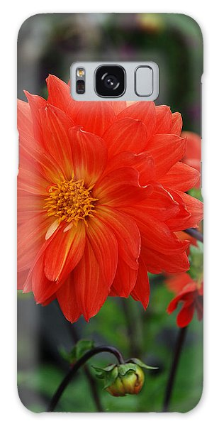 Orange Dahlia Galaxy Case