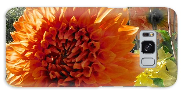 Orange Dahlia Suncrush  Galaxy Case