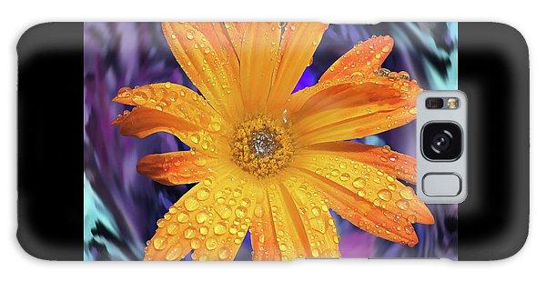 Orange Daisy Swirl Galaxy Case