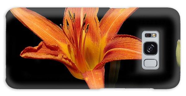 Orange Day-lily Galaxy Case