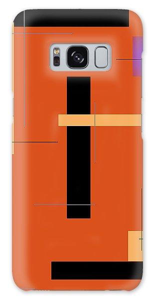 Orange Design 1 Vertical Galaxy Case