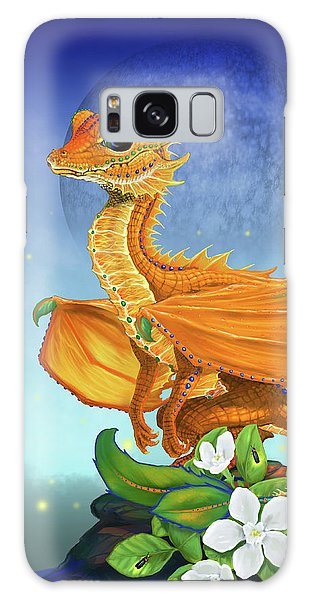 Orange Dragon Galaxy Case