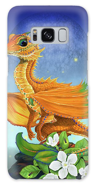 Orange Dragon Galaxy Case by Stanley Morrison