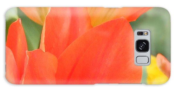 Orange Emperor Tulips Galaxy Case