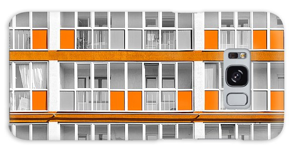 Orange Exterior Decoration Details Of Modern Flats Galaxy Case