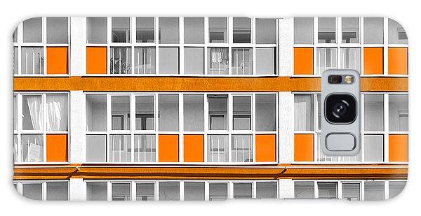 Orange Exterior Decoration Details Of Modern Flats Galaxy Case
