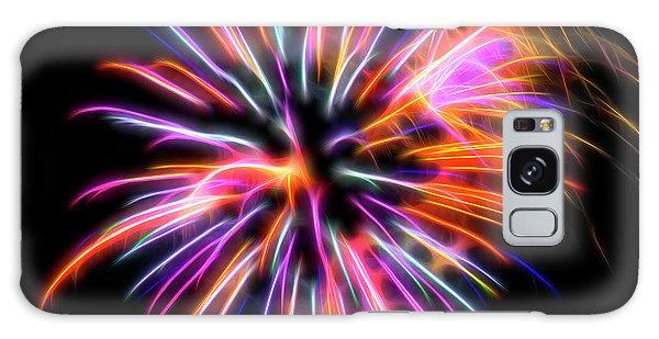 Galaxy Case featuring the photograph Orange Fireworks by Yulia Kazansky