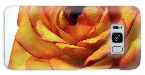 Orange Flower Galaxy Case by Maggy Marsh