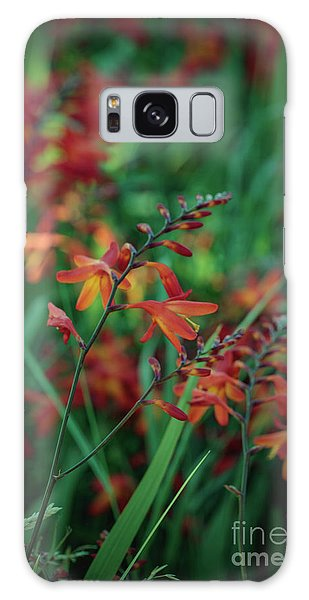 Orange Flowers 8 Galaxy Case
