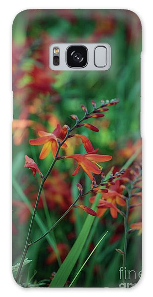 Orange Flowers 8 Galaxy Case