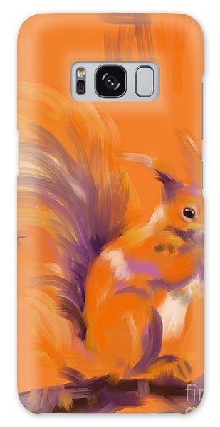Orange Forest Squirrel Galaxy Case by Go Van Kampen