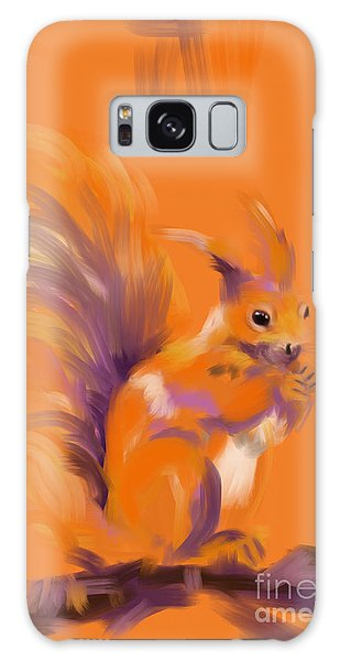 Orange Forest Squirrel Galaxy Case