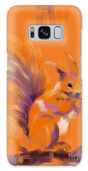 Orange Forest Squirrel Galaxy Case