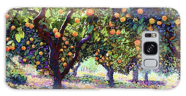 Florida Galaxy Case -  Orange Grove Of Citrus Fruit Trees by Jane Small