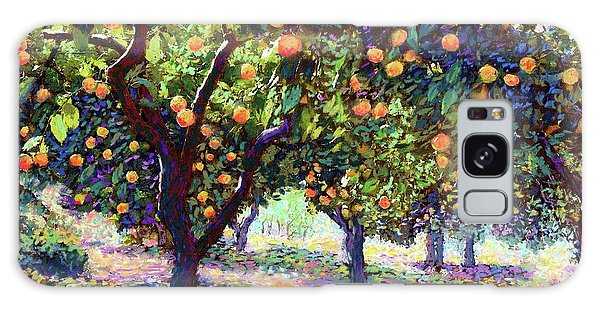 Texas Galaxy Case -  Orange Grove Of Citrus Fruit Trees by Jane Small