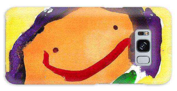 Orange Happy Face Galaxy Case
