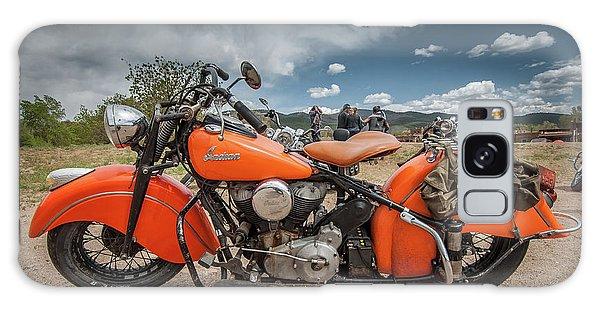 Orange Indian Motorcycle Galaxy Case