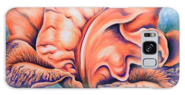 Orange Iris Galaxy Case