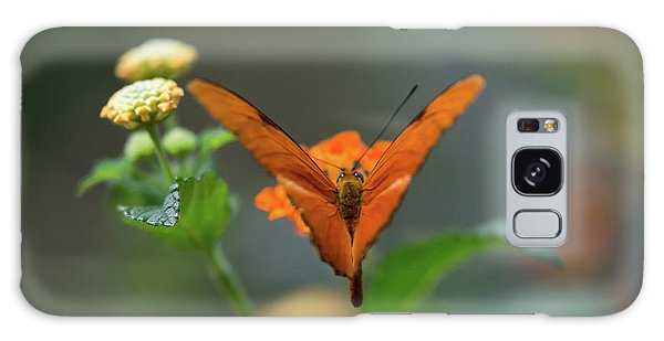 Orange Is The New Butterfly Galaxy Case