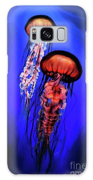 Orange Jellyfish Galaxy Case