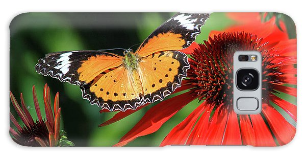 Orange Lacewing Galaxy Case