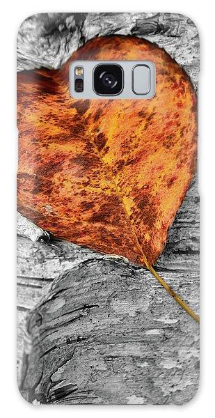 Orange Leaf Galaxy Case