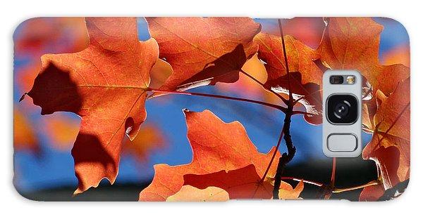 Orange Leaves Galaxy Case