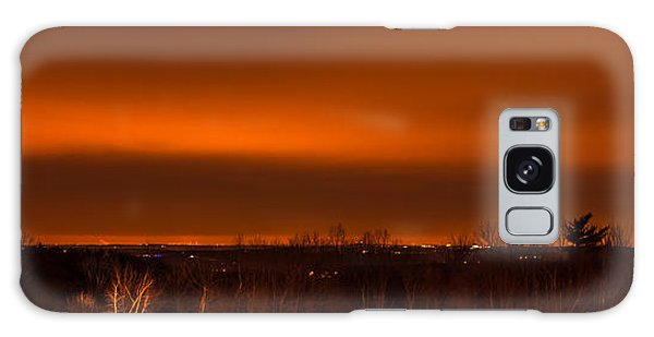 Orange Light Galaxy Case