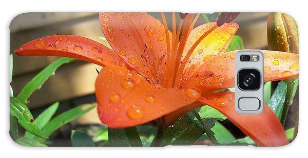 Orange Lilly Galaxy Case