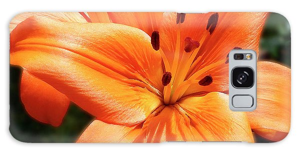 Orange Lily Joy Galaxy Case