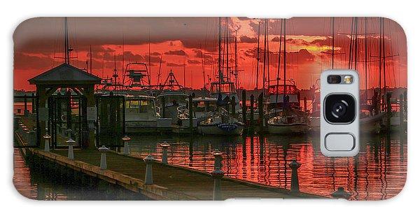 Orange Marina Sunrise Galaxy Case