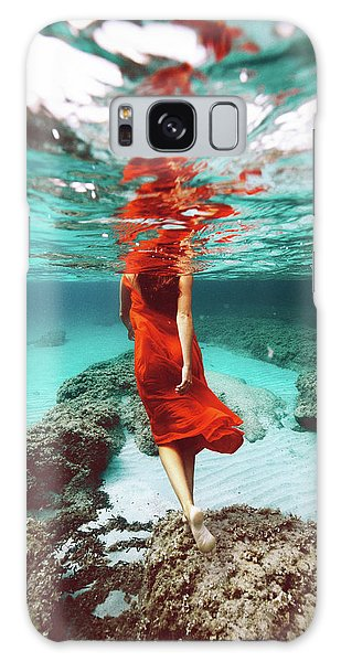 Orange Mermaid Galaxy Case