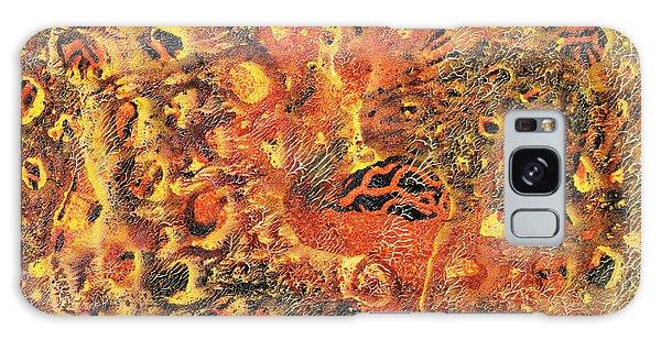 Sea Lily Galaxy Case - Orange Modern Art - Tiger Lily - Sharon Cummings by Sharon Cummings