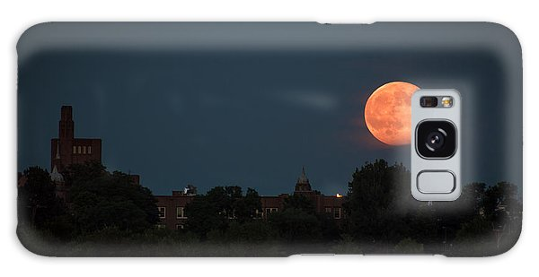 Orange Moon Galaxy Case