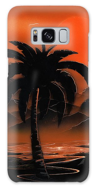 Orange Oasis Galaxy Case